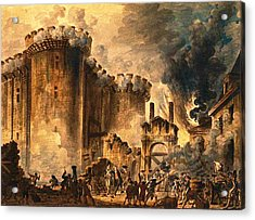Storming Of The Bastille Acrylic Print by Jean-Pierre Houel
