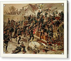 Storming Of The Great Barricade At The Entrance Of Le Acrylic Print by French School