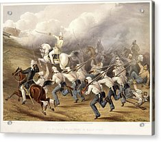 Storming The Batteries At Badle - Serai Acrylic Print by British Library