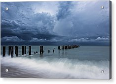 Storm's A Comin' Acrylic Print by Mike Lang