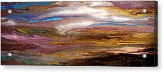 Storms At Sunset / Original Skyscape Painting Acrylic Print