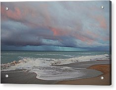 Acrylic Print featuring the painting Storms Comin' by Mim White