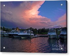 Storms Edge Acrylic Print by Amazing Jules
