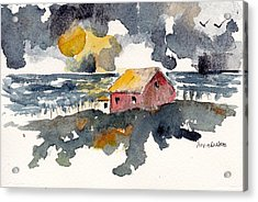Acrylic Print featuring the painting Storm's Over by Anne Duke