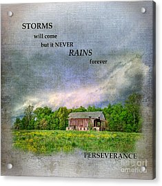 Storms Will Come Acrylic Print