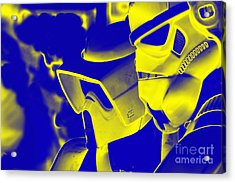 Stormtrooper And Biker Scout Acrylic Print by Micah May