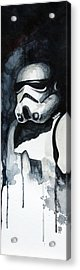 Stormtrooper Acrylic Print by David Kraig