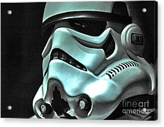Stormtrooper Helmet 11 Acrylic Print by Micah May