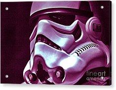 Stormtrooper Helmet 20 Acrylic Print by Micah May