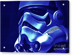 Stormtrooper Helmet 21 Acrylic Print by Micah May