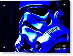 Stormtrooper Helmet 22 Acrylic Print by Micah May