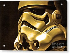 Stormtrooper Helmet 24 Acrylic Print by Micah May