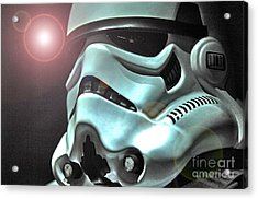 Stormtrooper Helmet 27 Acrylic Print by Micah May