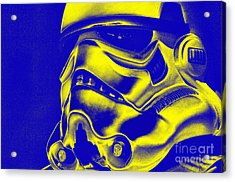 Stormtrooper Helmet 29 Acrylic Print by Micah May