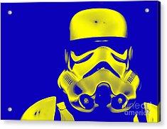 Stormtrooper Helmet 33 Acrylic Print by Micah May