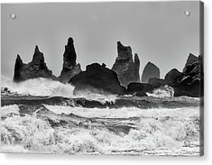 Stormy Beach Acrylic Print by Alfred Forns