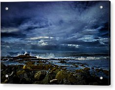 Acrylic Print featuring the photograph Stormy Beach by Joseph Hollingsworth