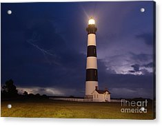 Stormy Bodie Lighthouse Outer Banks I Acrylic Print by Dan Carmichael