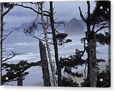 Stormy Cannon Beach Acrylic Print