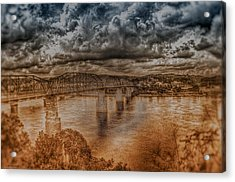 Stormy Clouds Acrylic Print by Dennis Baswell