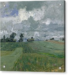 Stormy Day Acrylic Print by Isaak Ilyich Levitan