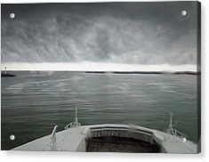 Stormy Departure Acrylic Print