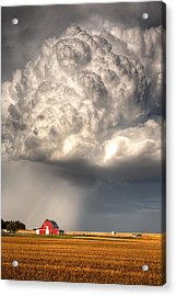 Stormy Homestead Barn Acrylic Print by Thomas Zimmerman