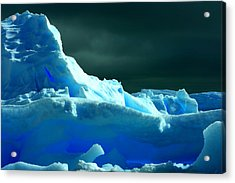 Acrylic Print featuring the photograph Stormy Icebergs by Amanda Stadther