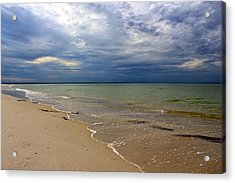 Acrylic Print featuring the photograph Stormy Mayflower Beach by Amazing Jules