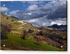 Stormy Mediterranean Landscape Acrylic Print
