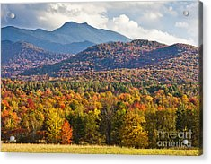 Stormy Mount Mansfield Acrylic Print by Alan L Graham