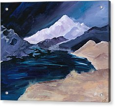 Stormy Mountain Acrylic Print by Jennifer Galbraith