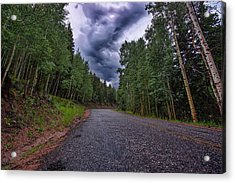 Stormy Mountain Road Acrylic Print
