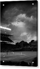 Stormy Night At Wrigley Field Acrylic Print