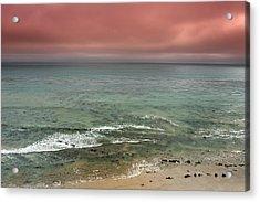 Stormy Ocean Panorama Acrylic Print by Joe Belanger