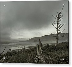 Stormy Oregon Coast Acrylic Print by Shawn St Peter