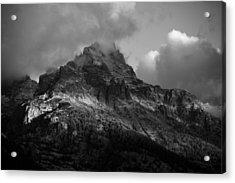 Stormy Peaks Acrylic Print