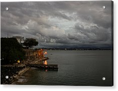 Acrylic Print featuring the photograph Stormy Puerto Rico  by Georgia Mizuleva