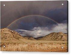 Stormy Rainbow Acrylic Print