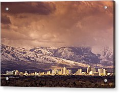 Acrylic Print featuring the photograph Stormy Reno Sunrise by Janis Knight