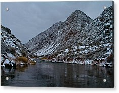 Acrylic Print featuring the photograph Stormy River by Atom Crawford