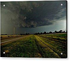 Stormy Road Ahead Acrylic Print by Ed Sweeney