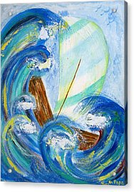 Acrylic Print featuring the painting Stormy Sails by Diane Pape