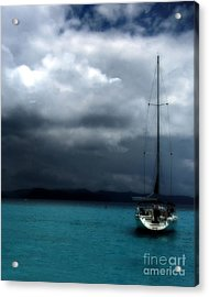 Stormy Sails Acrylic Print by Heather Green