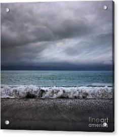 Stormy Sea And Sky Square Acrylic Print by Colin and Linda McKie