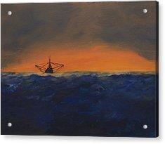 Stormy Sea Acrylic Print by J Cheyenne Howell