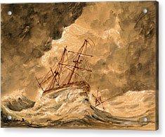 Stormy Sea  Acrylic Print by Juan  Bosco