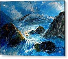 Stormy Sea Acrylic Print by Mauro Beniamino Muggianu