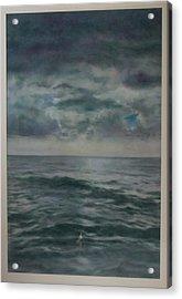 Stormy Sea Acrylic Print by Paez  Antonio