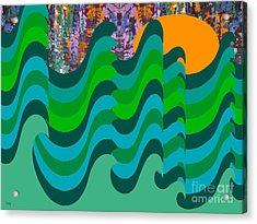 Stormy Sea Acrylic Print by Patrick J Murphy